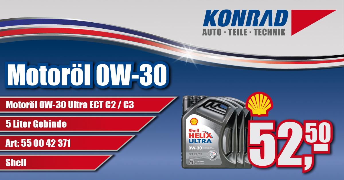Motoröl 0W-30 Shell Helix Ultra Angebot