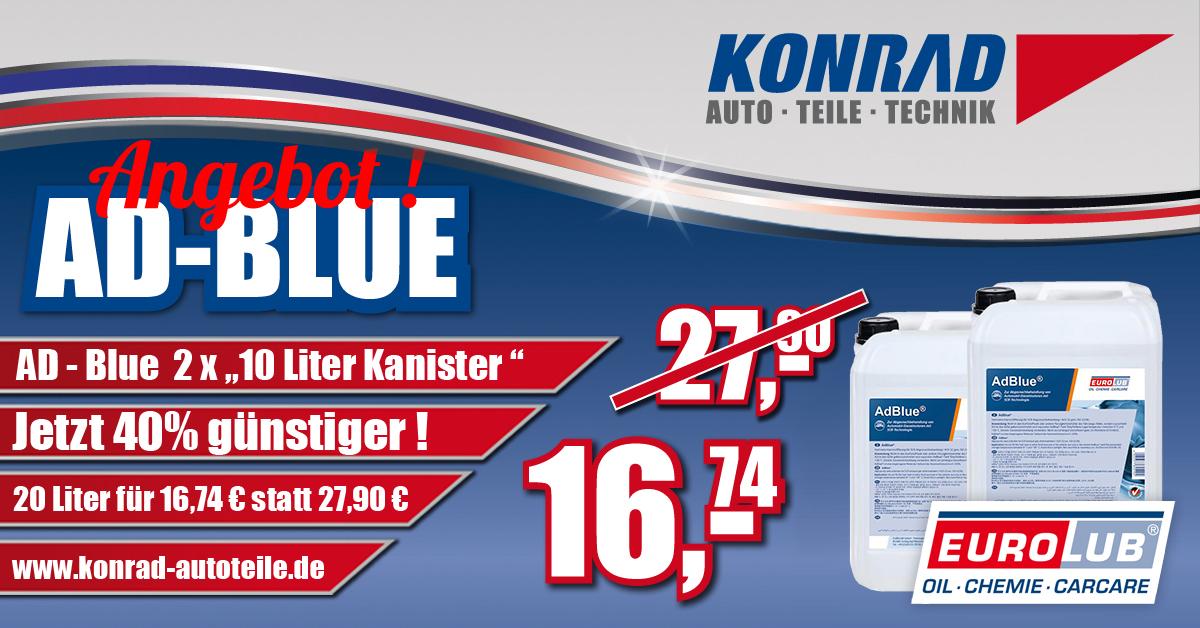 Banner Konrad Autoteile Ad-Blue Angebot